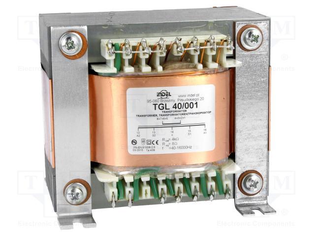 INDEL TGL 40/001 - Transformátor: reproduktorový