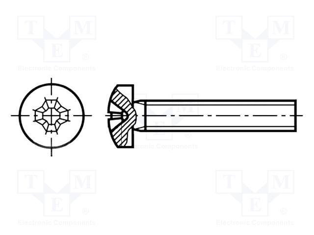 KRAFTBERG M3X8/D7985 - Винт