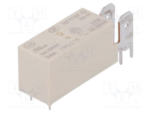 HONGFA RELAY HF115F-Q/024-1H - Relais: elektromagnetische