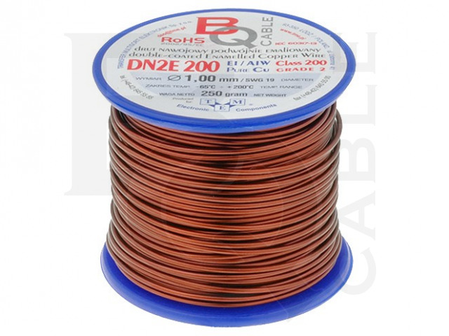 DN2E1.00/0.25 BQ CABLE, Coil wire