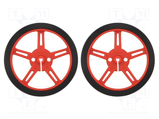 POLOLU WHEEL 60X8MM PAIR – RED image