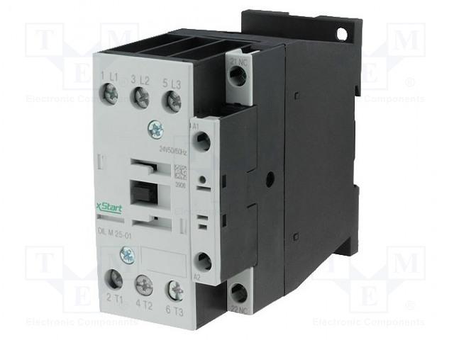 EATON ELECTRIC DILM25-01(400V50HZ,440V60HZ) - Stykač: 3-pólový