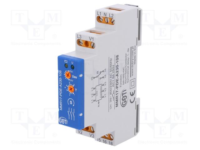 DOBRY CZAS MMR17-PDE-A230-108 - Modul: napěťové hlídací relé