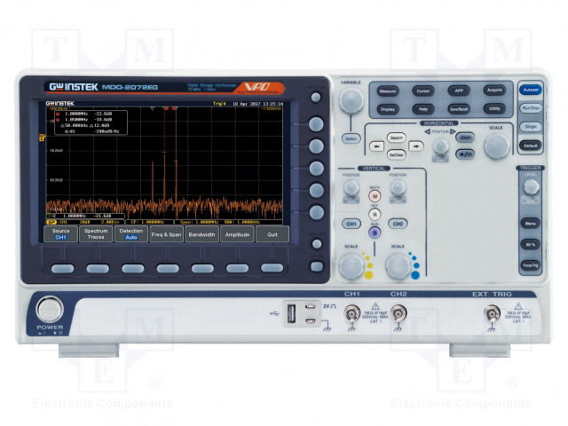 GW INSTEK MDO-2072EG - Osciloskop: číslicový