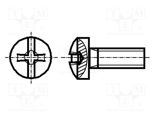 BOSSARD M2.5X5/BN1435 SN213306 - Screw
