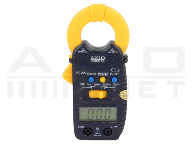 AX-200 AXIOMET, AC digital clamp meter