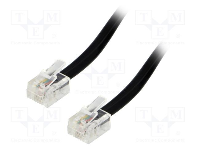 BQ CABLE TEL-RJ11-BK/15 - Kabel: telefonní