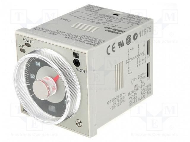 OMRON H3CR-A8 100-240AC/100-125DC - Časové relé