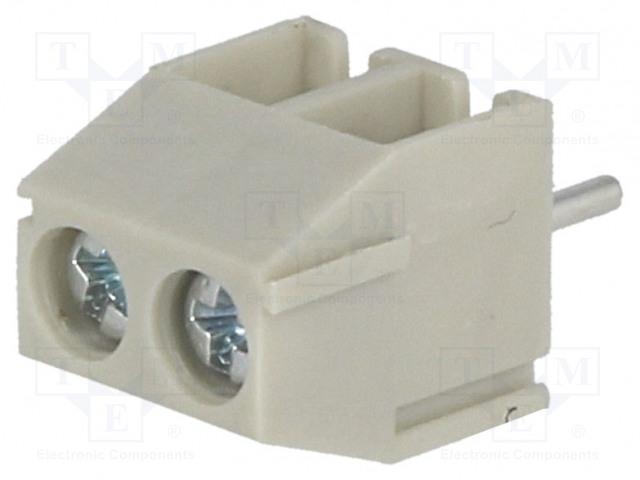 NINIGI TB-3.5-P-2P/GY - Barre de serrage pour PCB