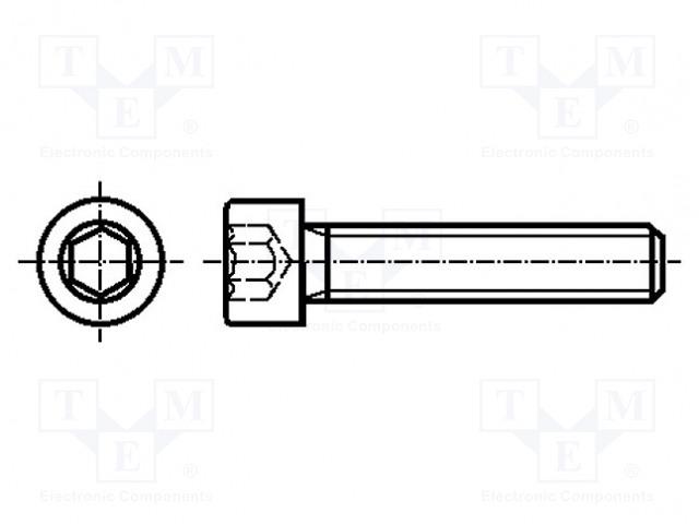 BOSSARD M12X70/BN7 DIN912 ISO4762 - Šroub