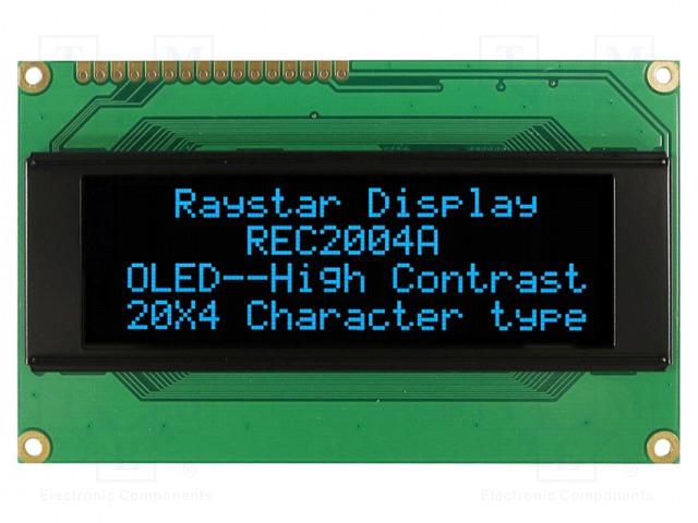 RAYSTAR OPTRONICS REC002004ABPP5N00000 - Display: OLED