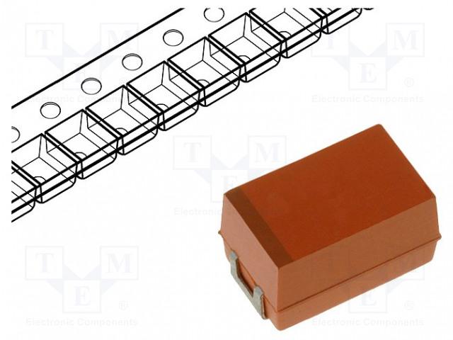 Оксид ниобиевые конденсаторы   Конденсатор: ниобиевый; 330мкФ; 6,3ВDC; Корп: E; 2917; ESR: 80мОм Фото 1.