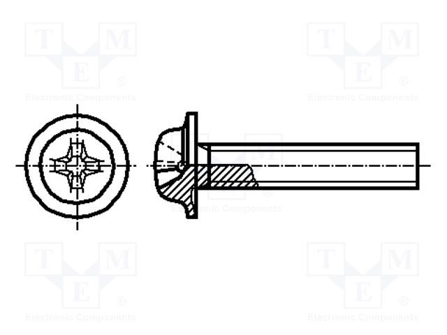 BOSSARD M6X16/BN4825 - Šroub