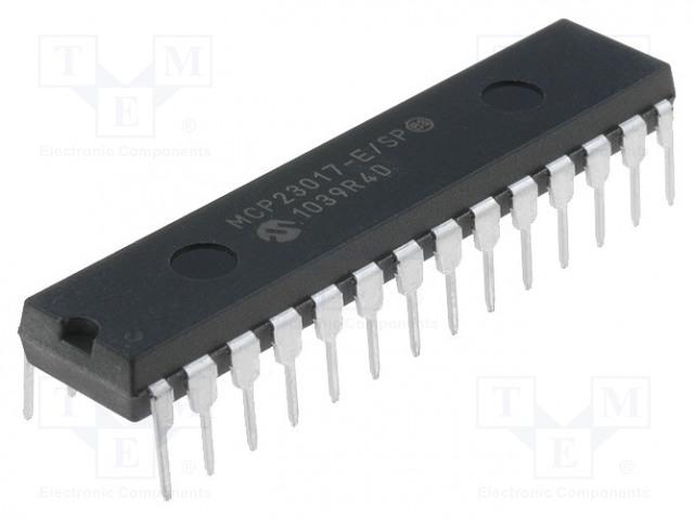 MICROCHIP TECHNOLOGY MCP23017-E/SP - IC: expander