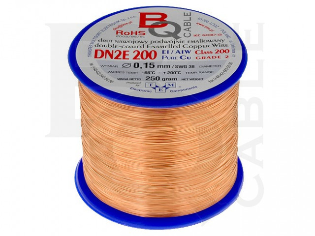 DN2E0.15/0.25 BQ CABLE, Wickeldraht