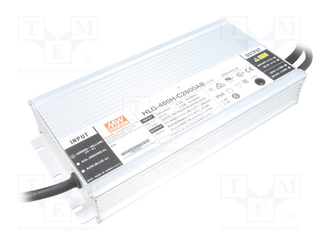 MEAN WELL HLG-480H-C2800AB - Power supply: switched-mode