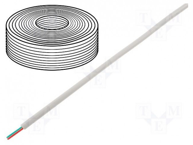 BQ CABLE TEL-0030CCA-100/WH - Wire: telecommunication cable