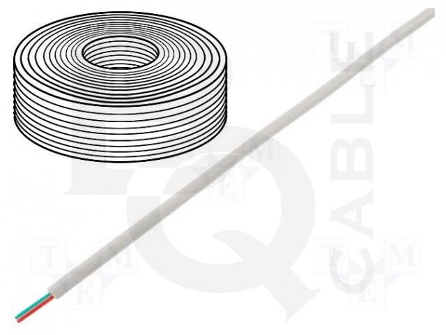 TEL-0030CCA-100/WH BQ CABLE, Wire