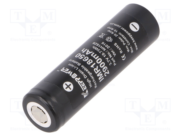 IMR18650 2900MAH HIGH DRAIN LI-ION
