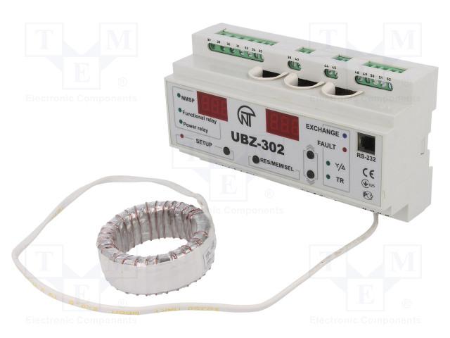 NOVATEK ELECTRO UBZ-302 - Moduł: przekaźnik nadzorczy