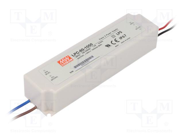 MEAN WELL LPC-60-1050 - Netzteil: Impuls