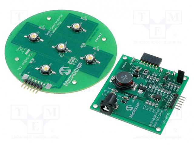 MICROCHIP TECHNOLOGY MCP1630DM-LED2 - Výv.kit: Microchip PIC