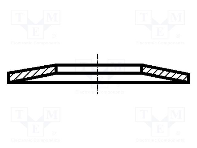 BOSSARD M10X4.2/BN806 - Podložka