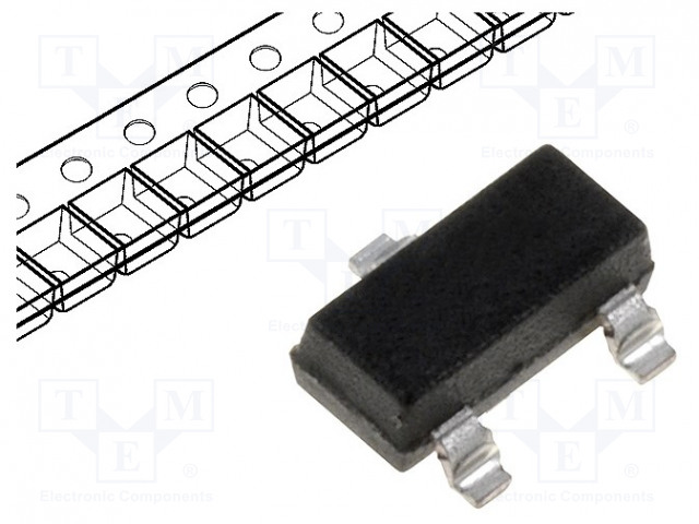 Биполярные одиночные транзисторы Транзистор: NPN; биполярный; 40В; 0,2А; 310мВт; SOT23 Фото 1.