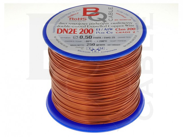 DN2E0.50/0.25 BQ CABLE, Coil wire