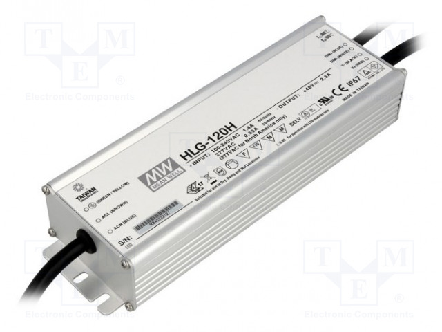 MEAN WELL HLG-120H-54B - Power supply: switched-mode