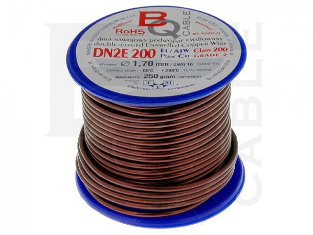 DN2E1.70/0.25 BQ CABLE, Drut nawojowy