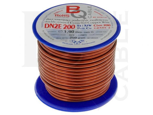 DN2E1.90/0.25 BQ CABLE, Pre vinutie