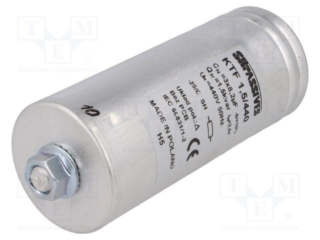 SR PASSIVES KTF-1.5/440 - Kondensaattori: polypropyleeni-