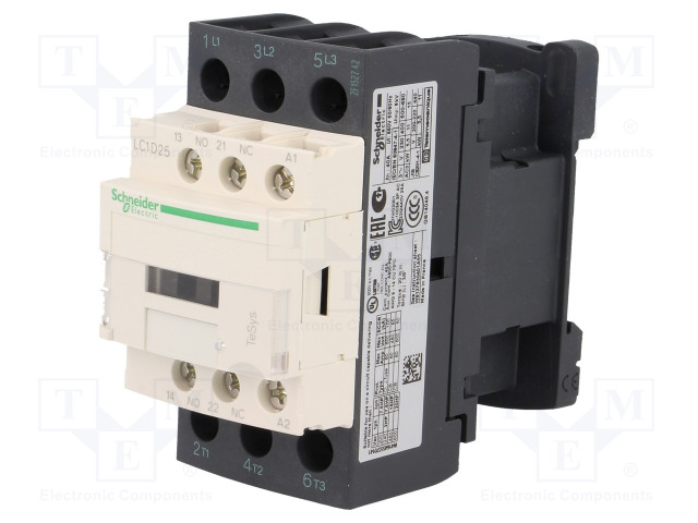 SCHNEIDER ELECTRIC LC1D25B7 - Contactor: 3-pole