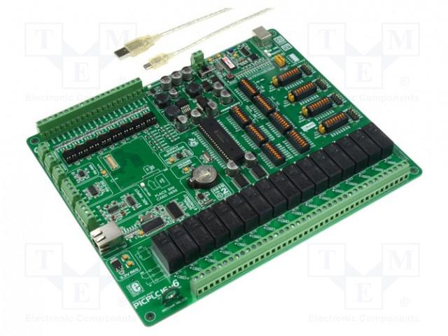MIKROELEKTRONIKA PICPLC16 V6 PLC SYSTEM - Kit de démarrage: Microchip PIC