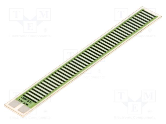 TELPOD GBR-619-12-20-2 - Rezystor: thick film