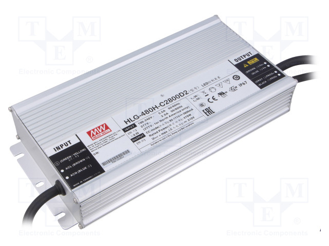 MEAN WELL HLG-480H-C2800D2 - Power supply: switched-mode