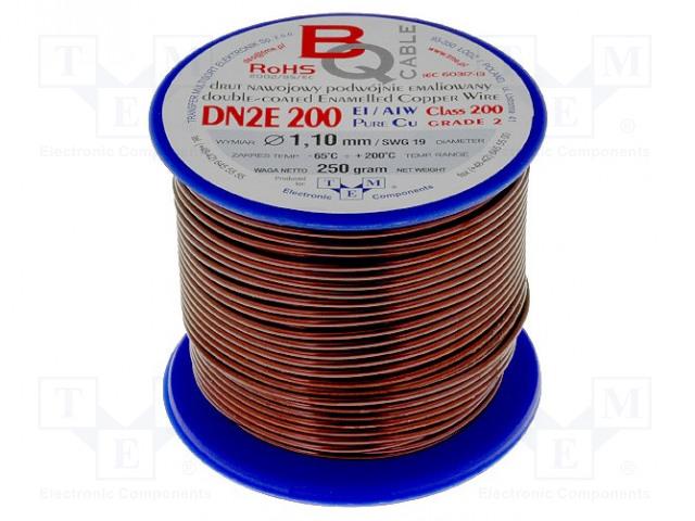 BQ CABLE DN2E1.10/0.25 - Drut nawojowy
