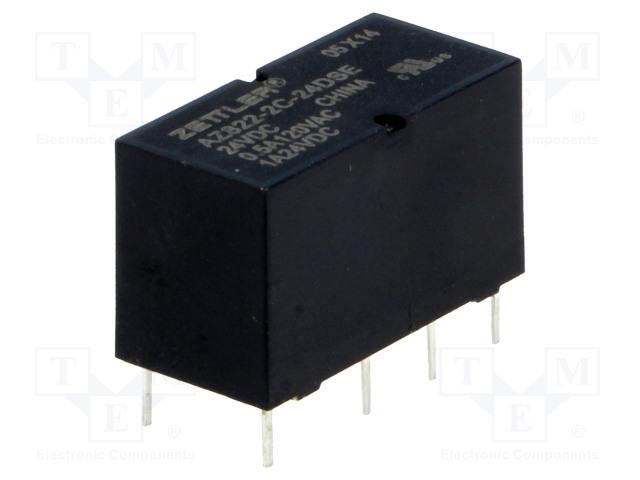 ZETTLER AZ822-2C-24DSE - Relay: electromagnetic