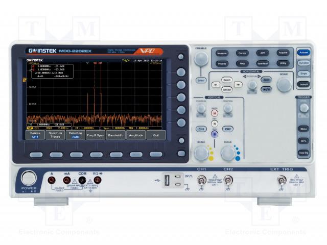 GW INSTEK MDO-2102EX - Osciloskop: číslicový