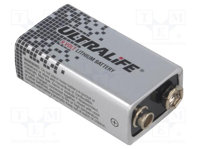 ULTRALIFE BAT-6F22-UL - Baterie: lithiové
