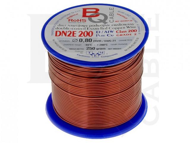 DN2E0.80/0.25 BQ CABLE, Coil wire