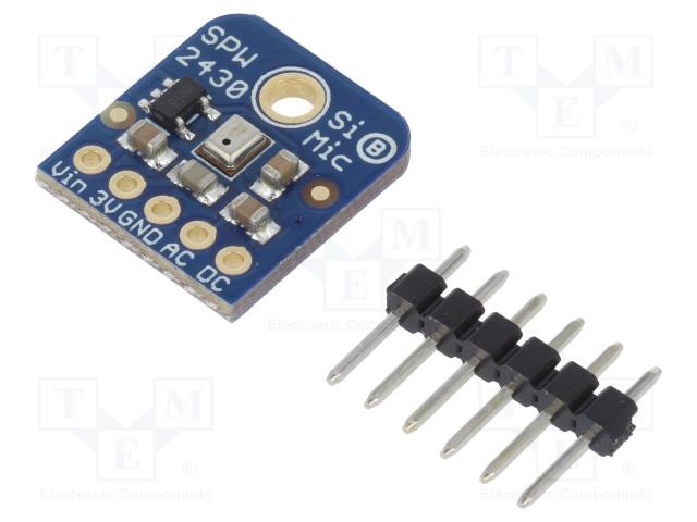 Носимые изделия Модуль: audio; детектор звука; аналоговый; 3,3÷5ВDC; IC: SPW2430 Фото 1.