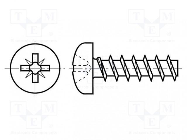 BOSSARD M2.5X6/BN82428 - Vrut