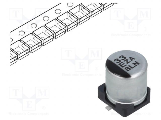 PANASONIC EEHZA1E330R - Kondenzátor: hibrid