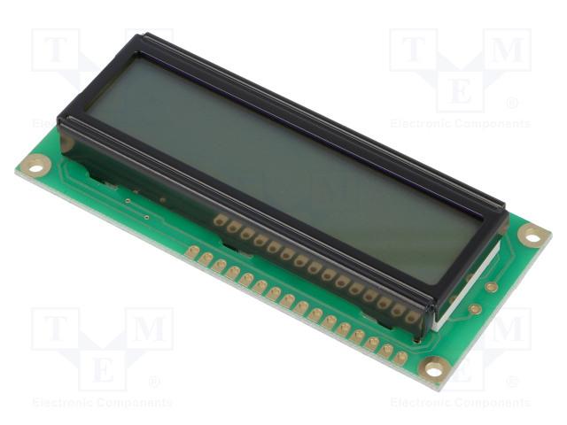 RAYSTAR OPTRONICS RC1602B-GHY-CSXD - Displej: LCD