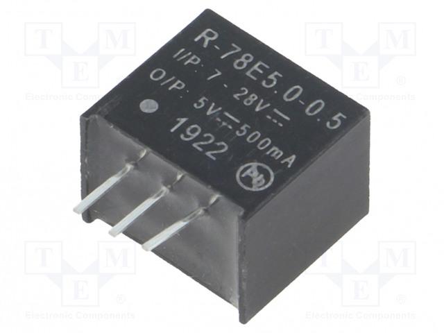 RECOM R-78E5.0-0.5 - Converter: DC/DC