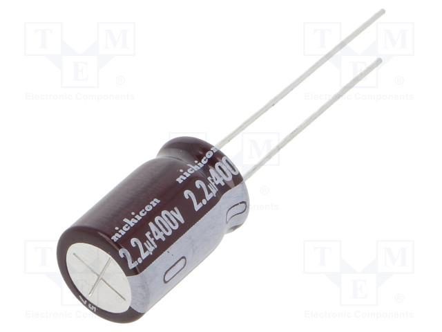 NICHICON UPM2G2R2MPD - Kondenzátor: elektrolytický