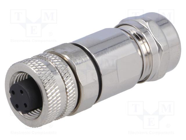 BULGIN PXMBNI12FBF04DSCPG9 - Plug