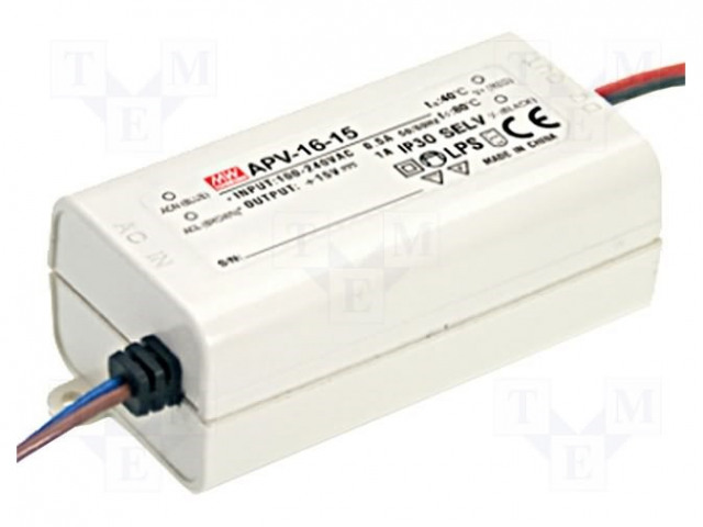 MEAN WELL APV-16-24 - Power supply: switched-mode